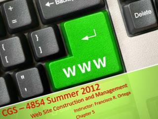 CGS – 4854 Summer 2012