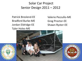 Solar Car Project Senior Design 2011 – 2012