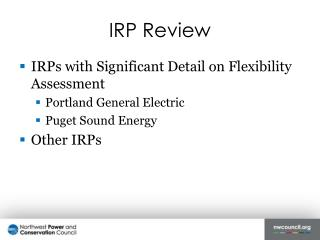 IRP Review