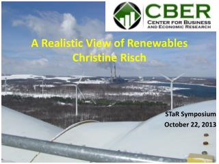 A Realistic View of  Renewables Christine Risch