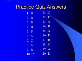 practice quiz answers