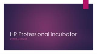 HR Professional Incubator