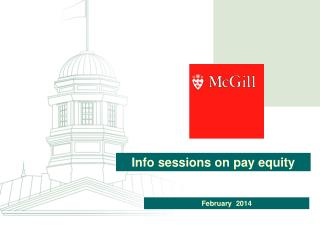 Info sessions on pay equity