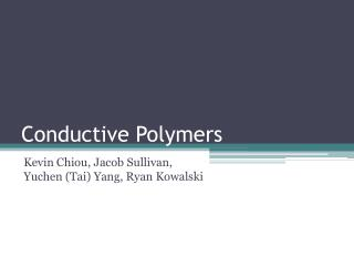 Conductive Polymers
