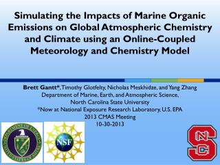 Simulating the Impacts of Marine Organic Emissions on Global Atmospheric Chemistry and Climate using an Online-Coupled