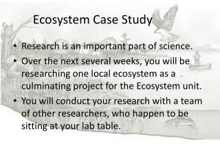 Ecosystem Case Study