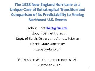 The 1938 New England Hurricane as a Unique Case of Extratropical Transition  and Comparison  of its Predictability to A