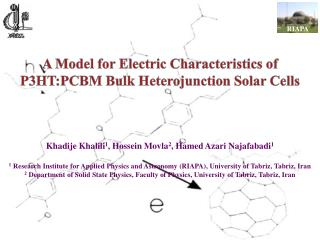 A Model for Electric Characteristics of P3HT:PCBM Bulk Heterojunction Solar Cells