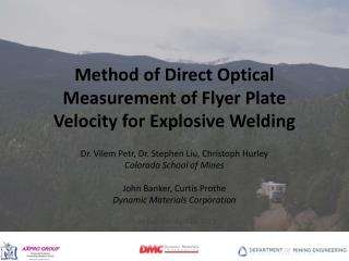 Method of Direct Optical Measurement of  Flyer Plate Velocity for  Explosive Welding