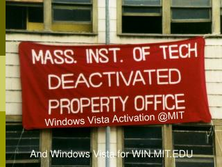 Presentation on Vista Activation and Vista in win.mit