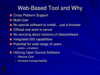 Web-Based Tool and Why
