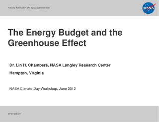 The Energy Budget and the Greenhouse Effect