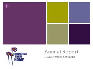 Annual Report AGM November 2012
