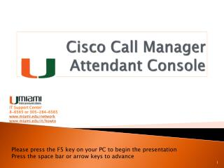 Cisco Call Manager  Attendant Console