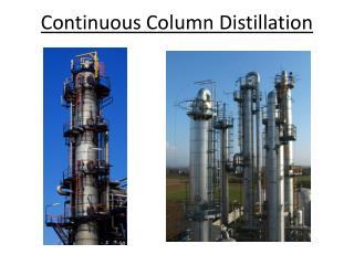 Continuous Column Distillation