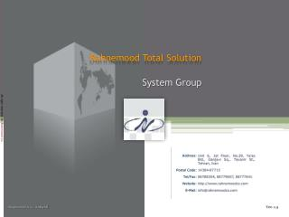 Rahnemood Total Solution System Group
