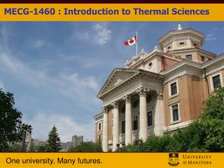 MECG-1460 : Introduction to Thermal Sciences