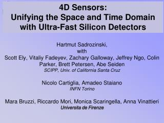 4D Sensors:  Unifying the Space and Time Domain with Ultra-Fast Silicon Detectors
