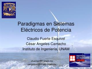 Paradigmas en Sistemas Eléctricos de Potencia