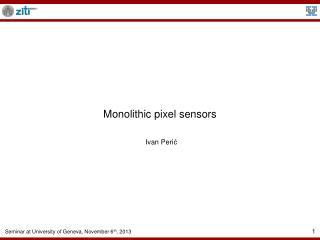 Monolithic pixel sensors