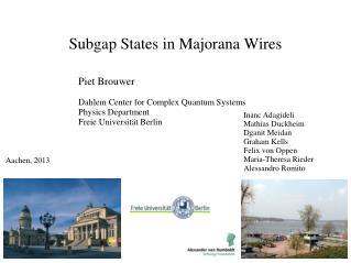 Subgap  States in  Majorana  Wires