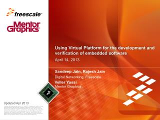 Using Virtual Platform for the development and verification of embedded software