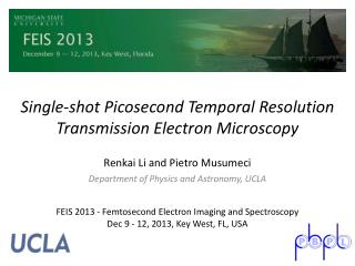 Single-shot Picosecond Temporal Resolution Transmission Electron Microscopy