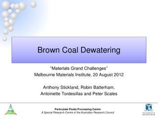 Brown Coal Dewatering