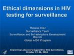 ethical dimensions in hiv testing for surveillance