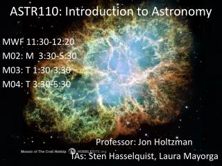 ASTR110: Introduction to  Astronomy