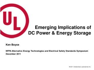 Emerging Implications of DC Power & Energy Storage