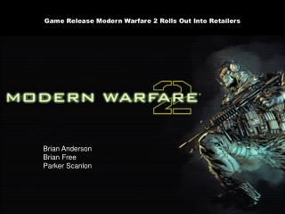Game Release Modern Warfare 2 Rolls Out Into Retailers