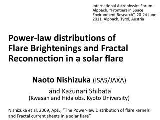 Power-law distributions of  Flare  Brightenings  and Fractal Reconnection in a solar flare