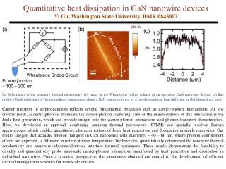 Quantitative heat dissipation in  GaN nanowire  devices Yi  Gu , Washington State University, DMR 0845007
