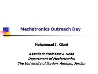 Mechatronics Outreach Day