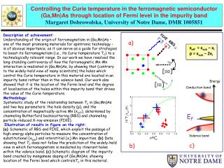 Controlling the Curie temperature in the ferromagnetic semiconductor ( Ga,Mn )As through location of Fermi level in the