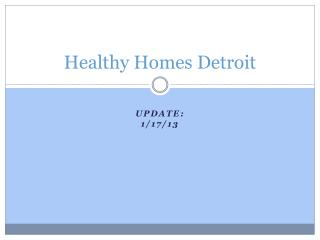 Healthy Homes Detroit