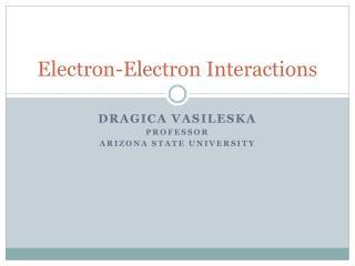 Electron-Electron Interactions