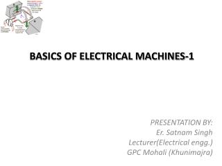 BASICS OF ELECTRICAL MACHINES-1