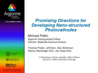 Promising Directions for Developing Nano-structured  Photocathodes