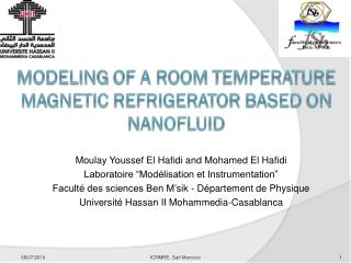 Modeling  of a room  temperature magnetic refrigerator based  on  nanofluid