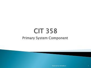 CIT 358