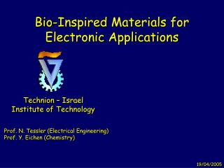 Bio-Inspired Materials for Electronic Applications