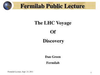 Fermilab Public Lecture