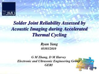 Solder Joint Reliability Assessed by Acoustic Imaging  during Accelerated Thermal  Cycling