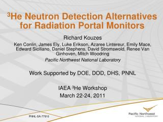 3 He Neutron Detection Alternatives for Radiation Portal Monitors