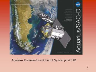 aquarius command and control system pre-cdr agenda