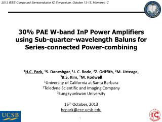 30% PAE W-band InP Power Amplifiers using Sub-quarter-wavelength Baluns for Series-connected Power-combining