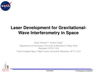 Laser Development for Gravitational-Wave Interferometry in Space