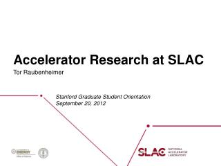 Accelerator Research at SLAC